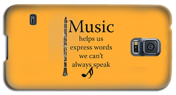 Clarinet Music Expresses Words Galaxy S5 Case
