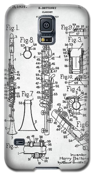Clarinet Patent Galaxy S5 Case by Taylan Apukovska