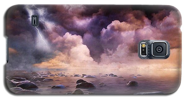Galaxy S5 Case featuring the mixed media Clash Of The Clouds by Gabriella Weninger - David