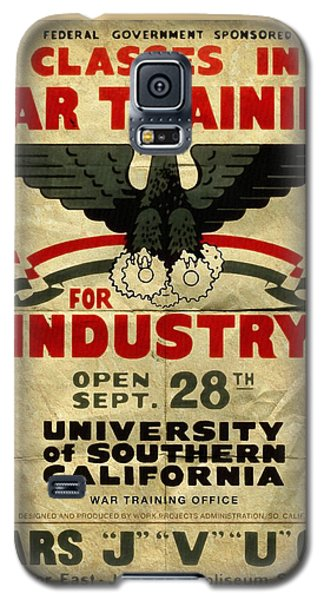 Classes In War Training For Industry - Vintage Poster Folded Galaxy S5 Case