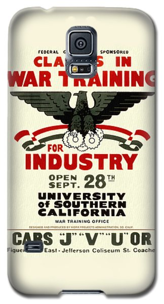 Classes In War Training For Industry - Vintage Poster Restored Galaxy S5 Case