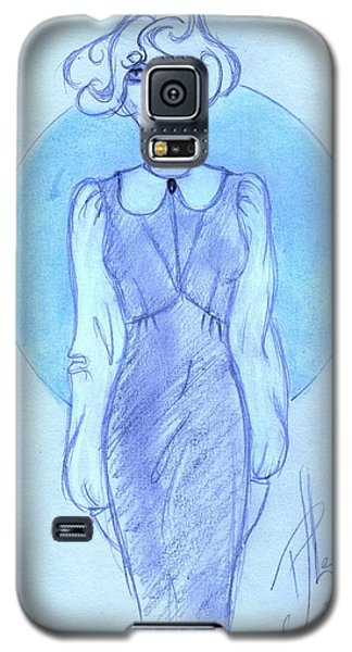 Galaxy S5 Case featuring the drawing Classic Fitted Jumper by P J Lewis