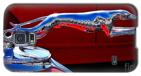 Galaxy S5 Case featuring the photograph Classic Ford Greyhound Hood Ornament by Patricia L Davidson