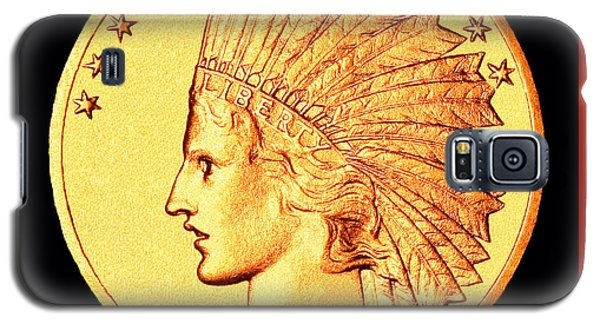 Classic Indian Head Gold Galaxy S5 Case