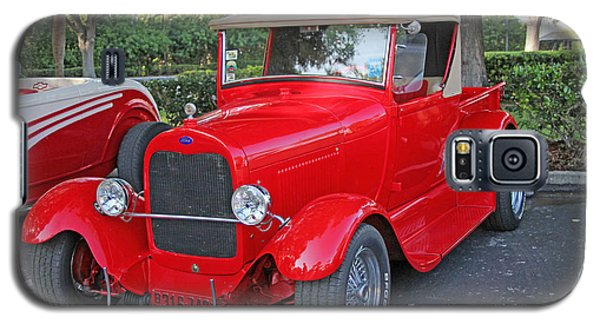 Galaxy S5 Case featuring the photograph Classic Red Ford Truck by Dodie Ulery