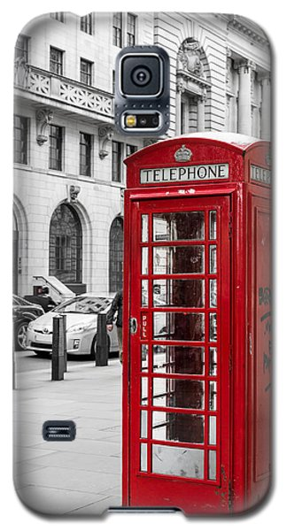 Red Telephone Box In London England Galaxy S5 Case