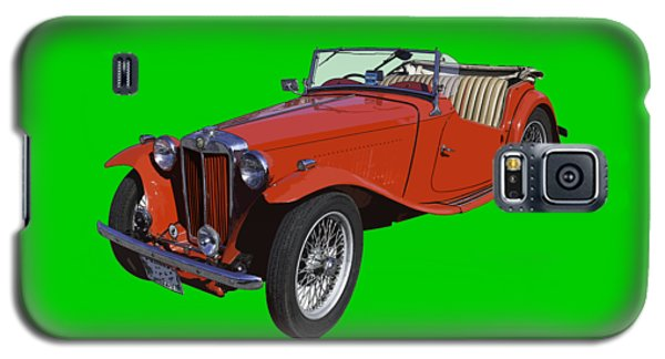 Classic Red Mg Tc Convertible British Sports Car Galaxy S5 Case