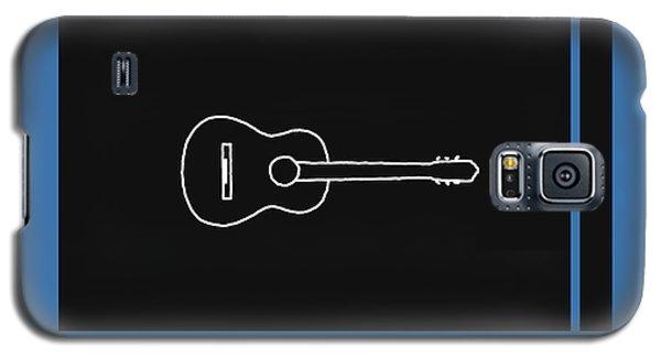 Classical Guitar In Blue Galaxy S5 Case by David Bridburg