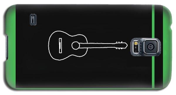 Classical Guitar In Green Galaxy S5 Case by David Bridburg
