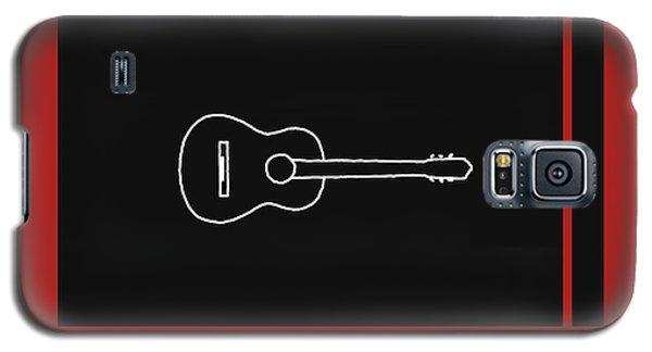 Classical Guitar In Orange Red Galaxy S5 Case by David Bridburg