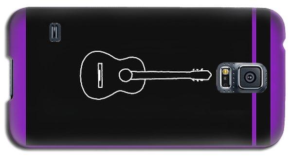 Classical Guitar In Purple Galaxy S5 Case by David Bridburg
