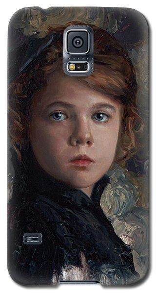 Galaxy S5 Case featuring the painting Classical Portrait Of Young Girl In Victorian Dress by Karen Whitworth