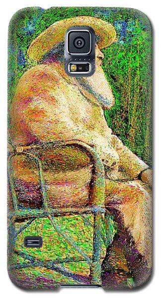 Claude Monet In His Garden Galaxy S5 Case