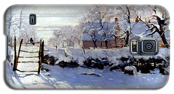 Claude Monet The Magpie - To License For Professional Use Visit Granger.com Galaxy S5 Case