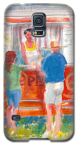 Galaxy S5 Case featuring the painting Claudine's Crepes by Gertrude Palmer