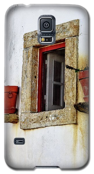 Galaxy S5 Case featuring the photograph Clay Pots In A Portuguese Village by Marion McCristall