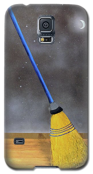 Galaxy S5 Case featuring the painting Cleaning Out The Universe by Thomas Blood
