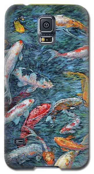 Clear Creek Koi With Painted On Mat Galaxy S5 Case by Charles Munn