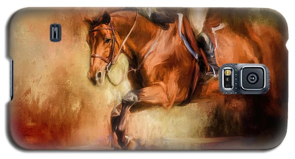 Clearing The Jump Equestrian Art Galaxy S5 Case
