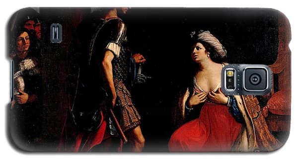 Galaxy S5 Case featuring the painting Cleopatra And Octavian by Pg Reproductions