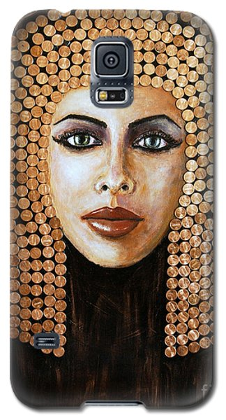 Galaxy S5 Case featuring the painting Cleopatra by Arturas Slapsys