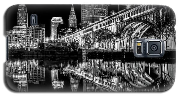 Galaxy S5 Case featuring the photograph Cleveland After Dark by Brent Durken