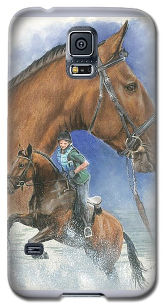 Galaxy S5 Case featuring the painting Cleveland Bay by Barbara Keith