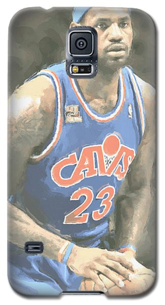 Cleveland Cavaliers Lebron James 1 Galaxy S5 Case by Joe Hamilton