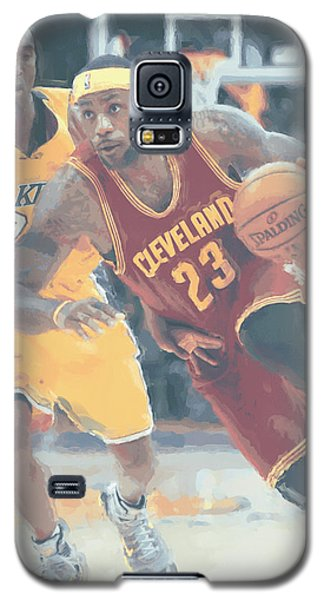 Cleveland Cavaliers Lebron James 3 Galaxy S5 Case by Joe Hamilton