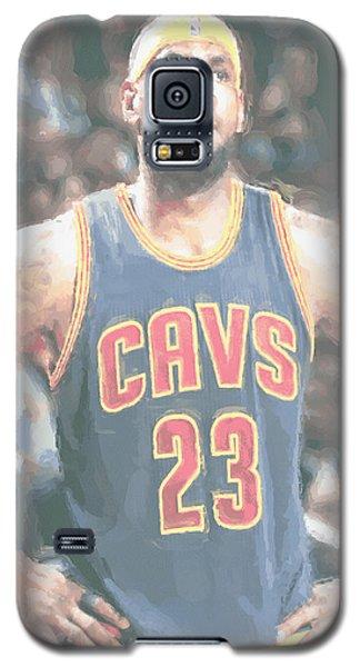 Cleveland Cavaliers Lebron James 5 Galaxy S5 Case by Joe Hamilton