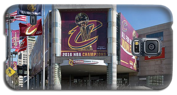 Galaxy S5 Case featuring the photograph Cleveland Cavaliers The Q by Dale Kincaid