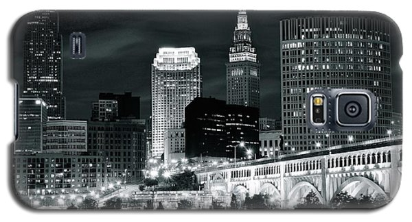 Cleveland Iconic Night Lights Galaxy S5 Case by Frozen in Time Fine Art Photography