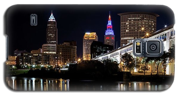 Galaxy S5 Case featuring the photograph Cleveland In The World Series 2016 by Dale Kincaid
