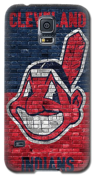 Bat Galaxy S5 Case - Cleveland Indians Brick Wall by Joe Hamilton