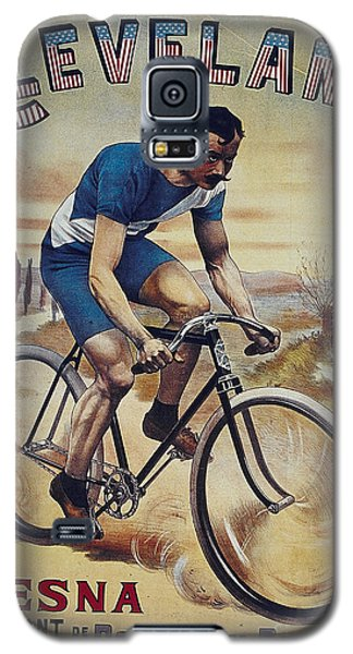 Cleveland Lesna Cleveland Gagnant Bordeaux Paris 1901 Vintage Cycle Poster Galaxy S5 Case by R Muirhead Art