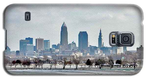 Cleveland Skyline In Winter Galaxy S5 Case