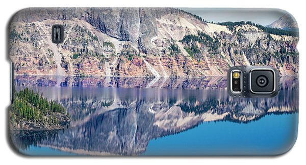 Galaxy S5 Case featuring the photograph Cliff Rim Of Crater Lake by Frank Wilson