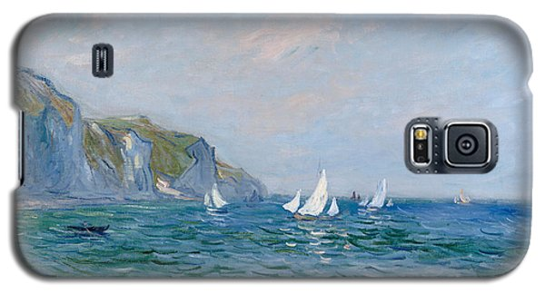 Impressionism Galaxy S5 Case - Cliffs And Sailboats At Pourville  by Claude Monet