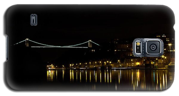 Clifton Suspension Bridge At Night Galaxy S5 Case by Brian Roscorla