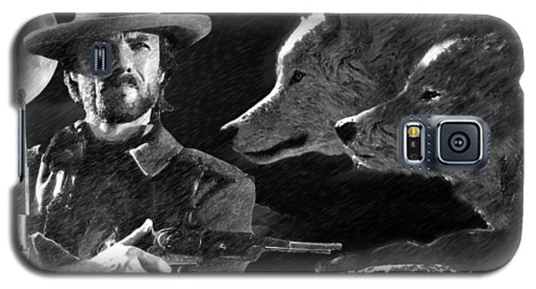 Clint Eastwood With Wolves Galaxy S5 Case