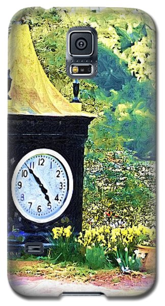 Galaxy S5 Case featuring the photograph Clock Tower In The Garden by Donna Bentley