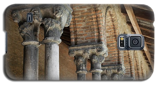 Galaxy S5 Case featuring the photograph Cloister Columns, Couvent Des Jacobins by Elena Elisseeva