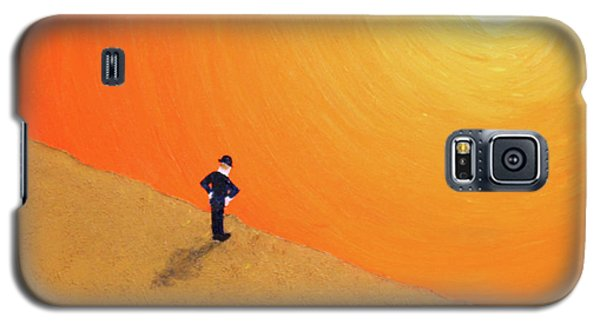 Galaxy S5 Case featuring the painting Close To The Edge by Thomas Blood