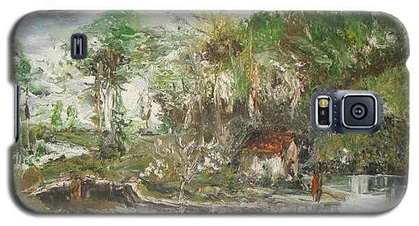 Galaxy S5 Case featuring the painting Close To The Retreat by Rushan Ruzaick