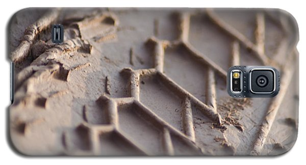 Close Up Of Motorcycle Tread Pattern On Muddy Trail Galaxy S5 Case