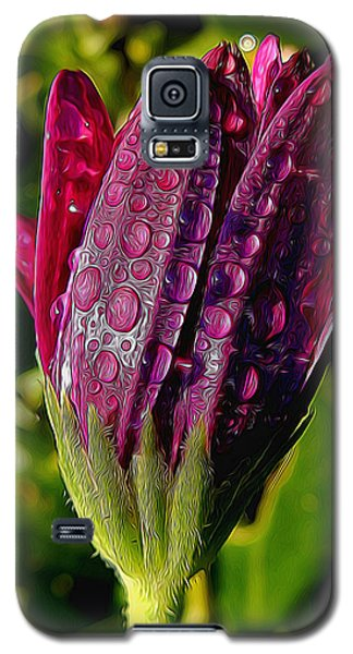 Closed Daisy With Rain Drops Galaxy S5 Case