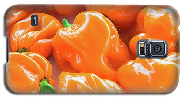 Closeup Of Fresh Chillies Habanero Orange Galaxy S5 Case