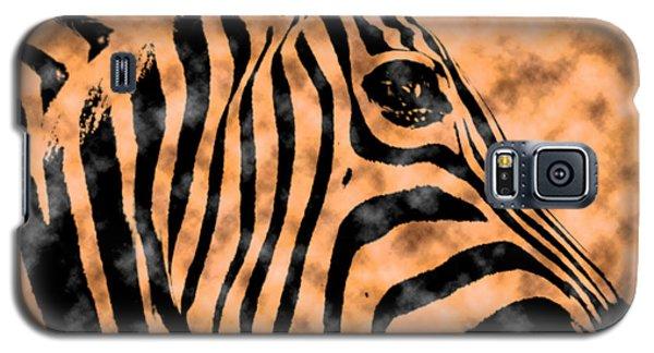 Galaxy S5 Case featuring the digital art Cloud Face Zebra by Bartz Johnson