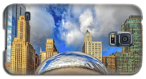 Galaxy S5 Case featuring the photograph Cloud Gate @ Millenium Park Chicago by Peter Ciro