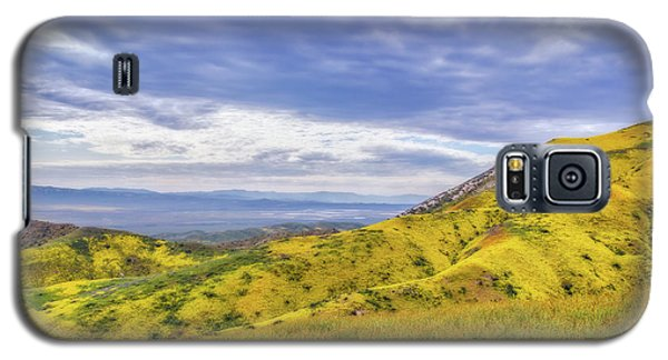 Galaxy S5 Case featuring the photograph Clouds Above Temblor Range by Marc Crumpler